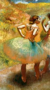 Two Dancers in Green Skirts, 1895 by Edgar Degas