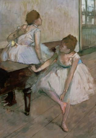 Two Dancers Resting, 1874 by Edgar Degas