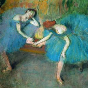 Two Dancers Resting, or Two Dancers in Blue, 1898 by Edgar Degas