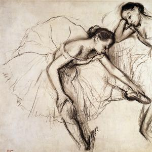 Two Dancers Resting by Edgar Degas