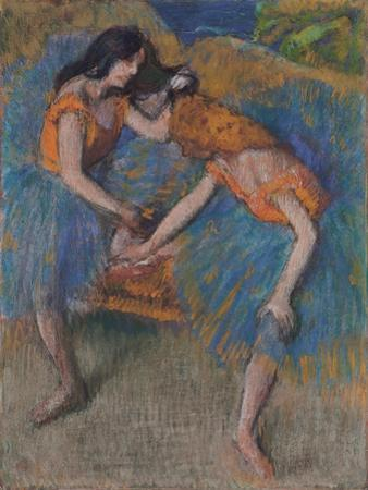 Two Dancers with Yellow Corsages, C.1902 by Edgar Degas
