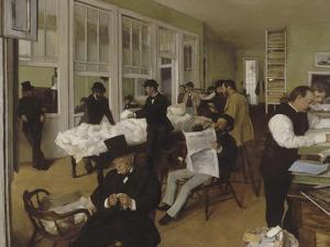 Un bureau de coton à la Nouvelle-Orléans by Edgar Degas
