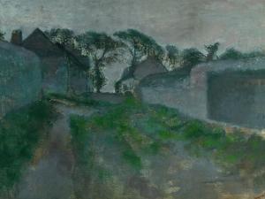 Village Street, Saint Valery-Sur-Somme, 1896-1898 by Edgar Degas