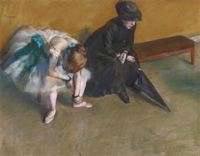 Waiting by Edgar Degas