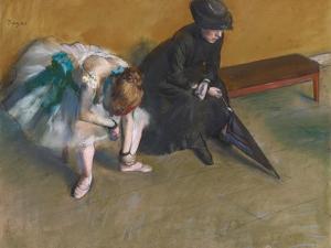 Waiting by Edgar Degas