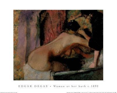 Woman at her Bath, c.1892 by Edgar Degas