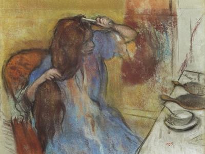 Woman at Her Toilet; Femme a Sa Toilette, C.1889 by Edgar Degas