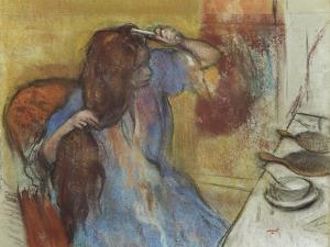 Woman at Her Toilet; Femme a Sa Toilette, C.1889 by Edgar Degas