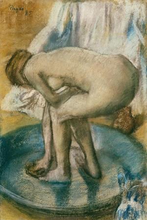 Woman Bathing in a Shallow Tub, 1885 by Edgar Degas