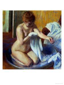 Woman in a Bathtub, 1885 by Edgar Degas