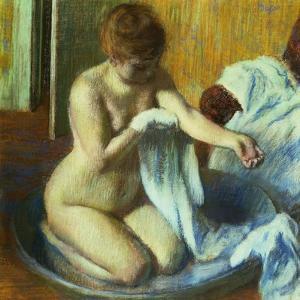 Woman In a Tub, Ca. 1883 by Edgar Degas