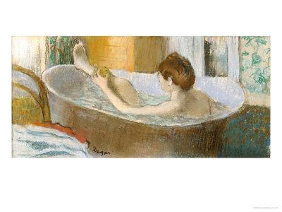 Woman in Her Bath, Sponging Her Leg, circa 1883
