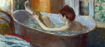 Woman in Her Bath, Washing a Leg, 1883-1884 by Edgar Degas