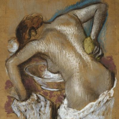 Woman Washing Her Back with a Sponge; Femme S'Epongeant Le Dos by Edgar Degas