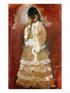 Woman with Binoculars by Edgar Degas