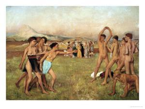 Young Spartans Exercising, Around 1860, Reworked Until 1880 by Edgar Degas