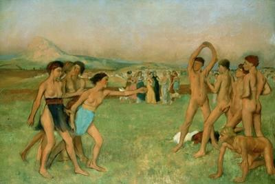Young Spartans Exercising, C1860 by Edgar Degas