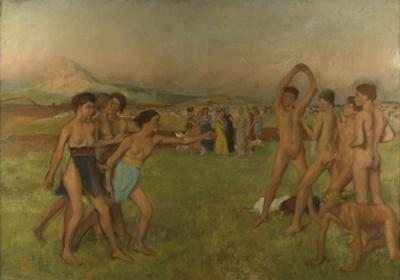 Young Spartans Exercising, Ca 1860