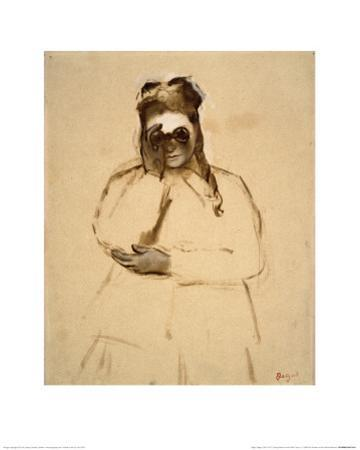 Young Woman with Field Glasses by Edgar Degas