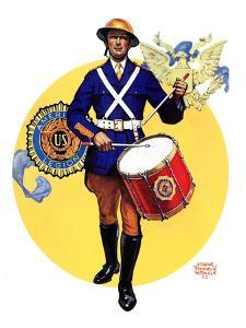 """""""American Legion Drummer,""""October 7, 1933 by Edgar Franklin Wittmack"""
