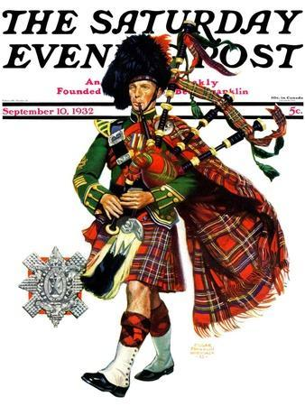 """Bagpipes,"" Saturday Evening Post Cover, September 10, 1932"