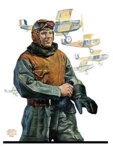 """""""Biplane Pilot,""""October 9, 1926 by Edgar Franklin Wittmack"""