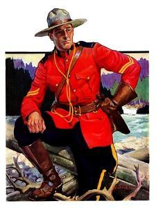 """""""Canadian Mountie,""""March 25, 1933 by Edgar Franklin Wittmack"""