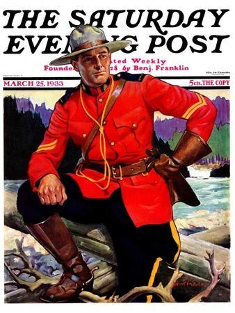 """Canadian Mountie,"" Saturday Evening Post Cover, March 25, 1933"