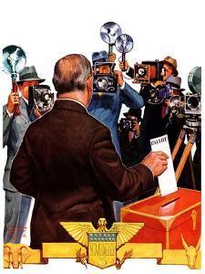 """Candidate Voting,""November 7, 1936 by Edgar Franklin Wittmack"
