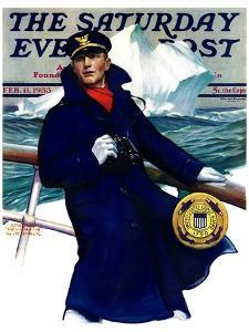 """""""Coast Guard,"""" Saturday Evening Post Cover, February 11, 1933 by Edgar Franklin Wittmack"""