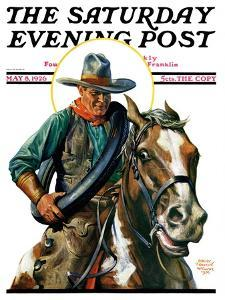 """""""Flat Tire,"""" Saturday Evening Post Cover, May 8, 1926 by Edgar Franklin Wittmack"""