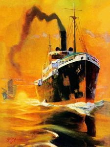 """""""Freighter,""""December 14, 1935 by Edgar Franklin Wittmack"""
