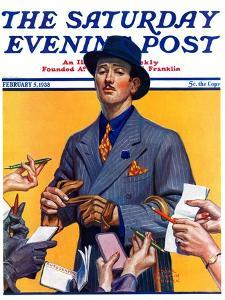 """Movie Idol,"" Saturday Evening Post Cover, February 5, 1938 by Edgar Franklin Wittmack"