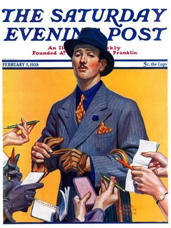 """Movie Idol,"" Saturday Evening Post Cover, February 5, 1938"