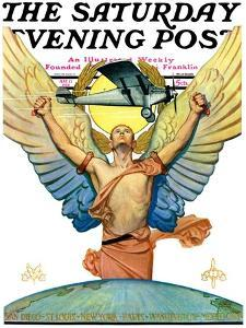 """""""The Spirit of Aviation,"""" Saturday Evening Post Cover, May 12, 1928 by Edgar Franklin Wittmack"""