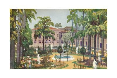 'Garden of the Itamaraty Palace - Foreign Office', 1914