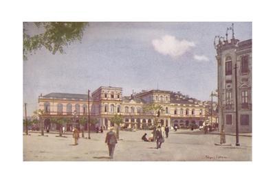 'Terminus of the Central Railway of Brazil, Rio de Janeiro', 1914