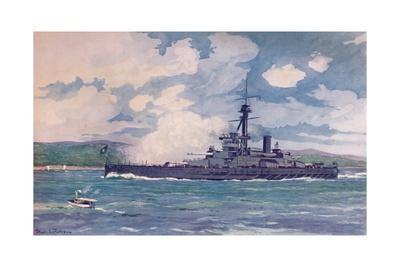 'The Brazilian Super-Dreadnought Minas Geraes nearing Rio', 1914