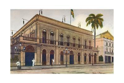 'The Itamaraty Palace - the Downing Street of Brazil', 1914