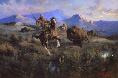 Buffalo Hunt by Edgar Samuel Paxson