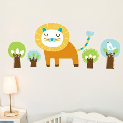 Edgar the Lion Wall Decal--Wall Decal
