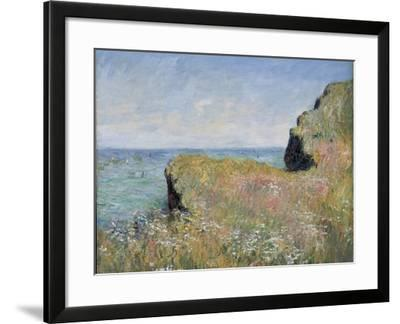 Edge of the Cliff, Pourville, 1882-Claude Monet-Framed Giclee Print