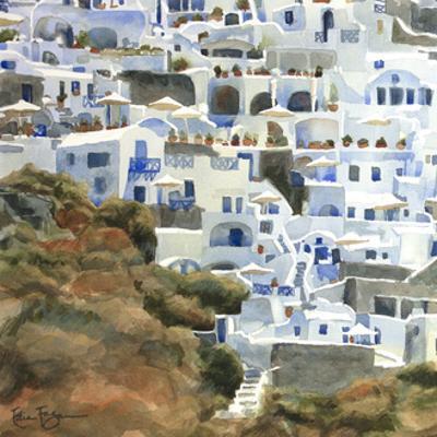 Santorini Hillside II by Edie Fagan