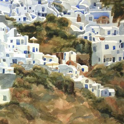 Santorini Hillside III by Edie Fagan