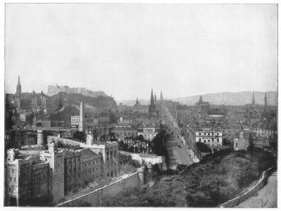 Edinburgh and Scott's Monument, Late 19th Century-John L Stoddard-Giclee Print