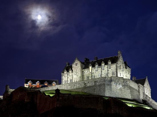 Edinburgh Castle At Night Photographic Print By Sean Caffrey Art Com