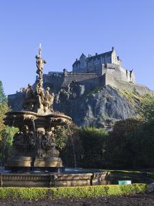 Edinburgh Castle, Edinburgh, Lothian, Scotland, Uk