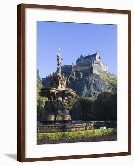 Edinburgh Castle, Edinburgh, Lothian, Scotland, Uk--Framed Photographic Print