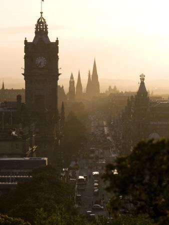 Edinburgh from Calton Hill at Sunset-Karl Blackwell-Photographic Print
