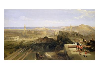 Edinburgh from the Castle, 1847-David Roberts-Giclee Print